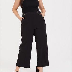 Torrid High Waisted Sailor Pants Black 30 T NEW